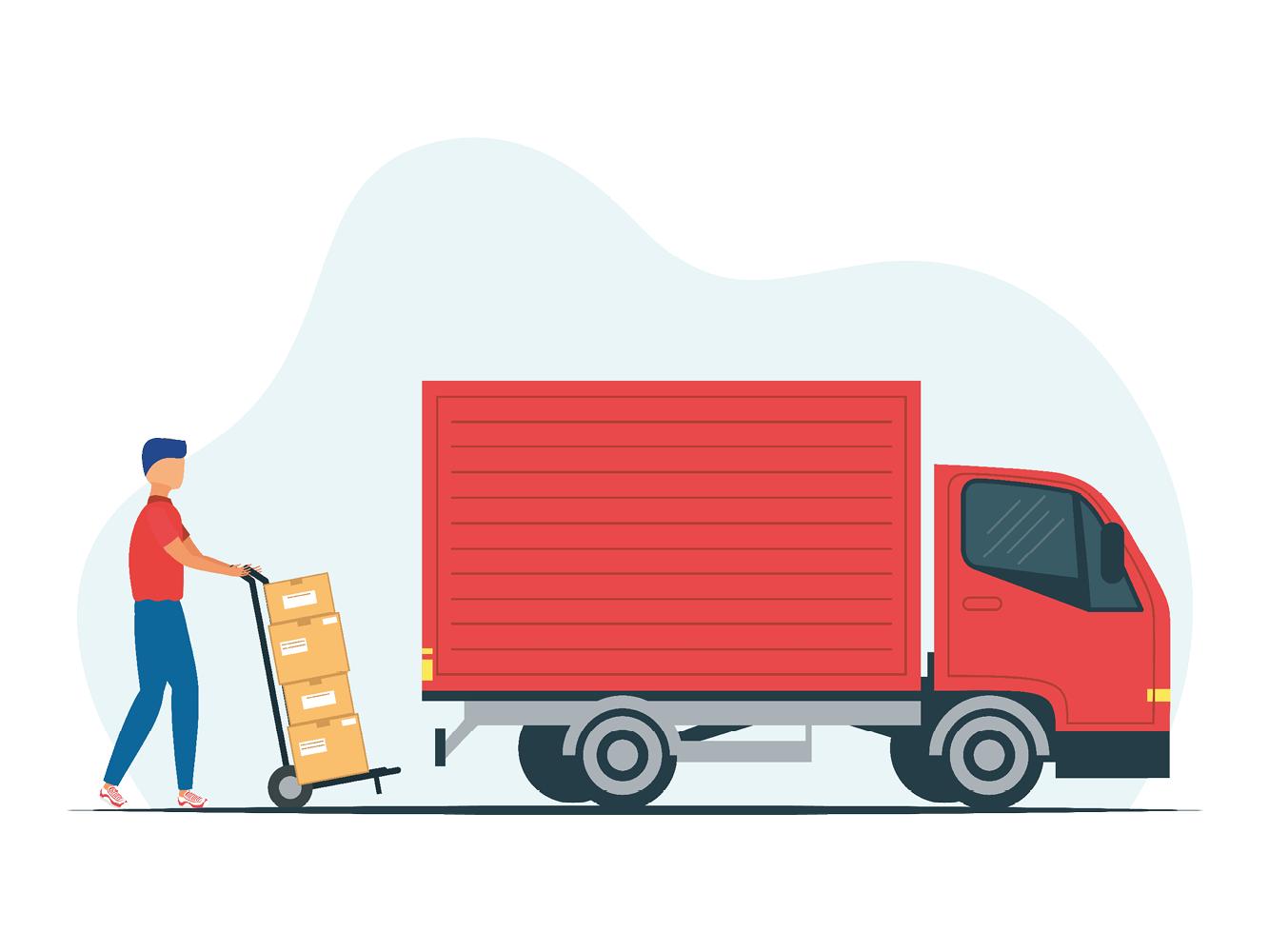 Logistics-truck-illustration